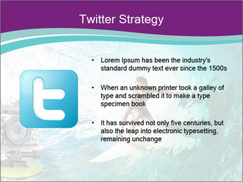 Surfer on Blue Ocean PowerPoint Templates - Slide 9