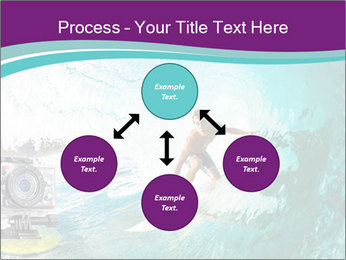 Surfer on Blue Ocean PowerPoint Templates - Slide 91