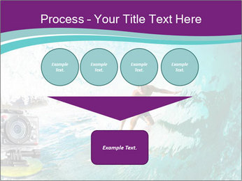 Surfer on Blue Ocean PowerPoint Templates - Slide 93