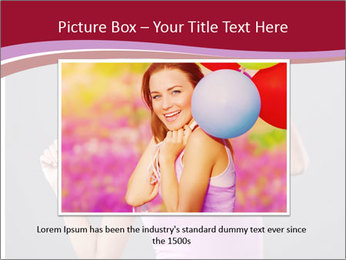 Happy girl PowerPoint Template - Slide 15