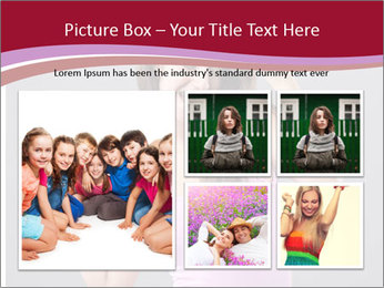 Happy girl PowerPoint Template - Slide 19