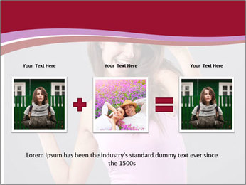 Happy girl PowerPoint Template - Slide 22