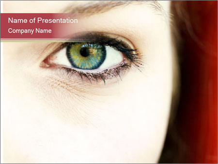 Beautiful eye PowerPoint Template