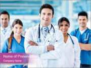 Doctor leading a team PowerPoint Templates