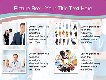 Doctor leading a team PowerPoint Template - Slide 14