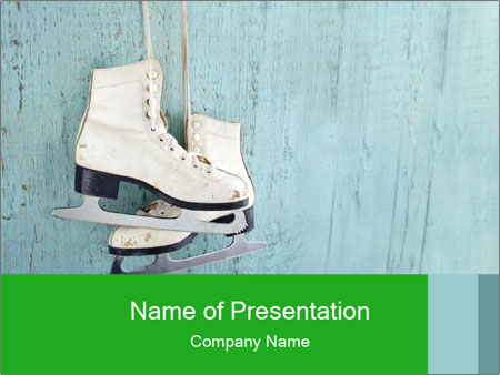 Ice Skates PowerPoint Template