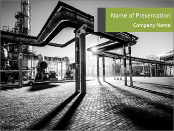 Chemical plant PowerPoint Templates - Slide 1