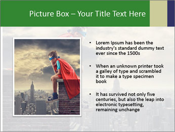A young boy dreams PowerPoint Template - Slide 13