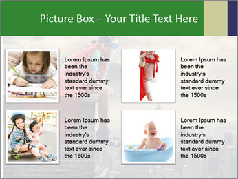 A young boy dreams PowerPoint Template - Slide 14