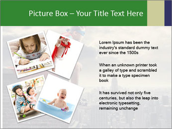 A young boy dreams PowerPoint Template - Slide 23