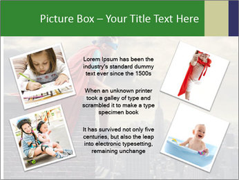 A young boy dreams PowerPoint Template - Slide 24