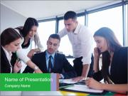 Happy young business people PowerPoint Templates