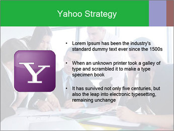 Happy young business people PowerPoint Template - Slide 11