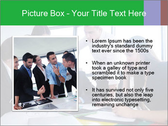 Happy young business people PowerPoint Template - Slide 13
