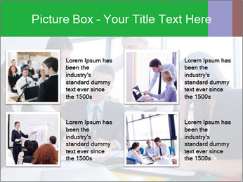 Happy young business people PowerPoint Template - Slide 14