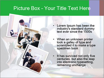 Happy young business people PowerPoint Template - Slide 17