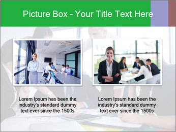 Happy young business people PowerPoint Template - Slide 18