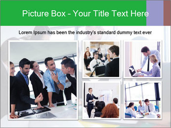 Happy young business people PowerPoint Template - Slide 19