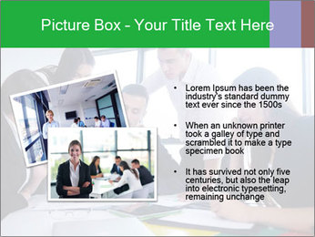 Happy young business people PowerPoint Template - Slide 20