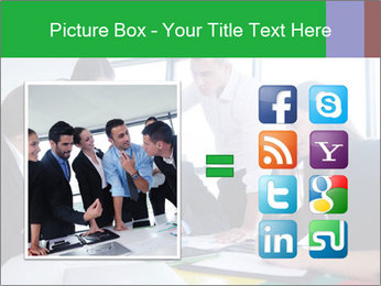 Happy young business people PowerPoint Template - Slide 21