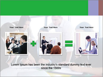 Happy young business people PowerPoint Template - Slide 22