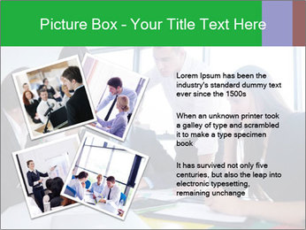 Happy young business people PowerPoint Template - Slide 23