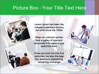 Happy young business people PowerPoint Template - Slide 24