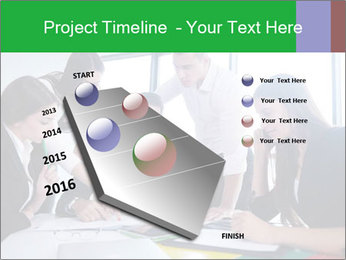 Happy young business people PowerPoint Template - Slide 26
