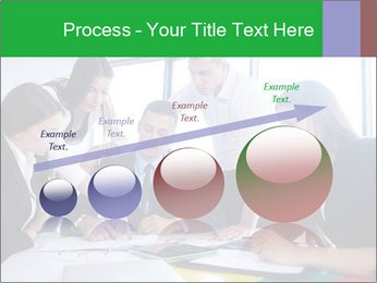 Happy young business people PowerPoint Template - Slide 87