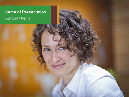 Serious Woman PowerPoint Template
