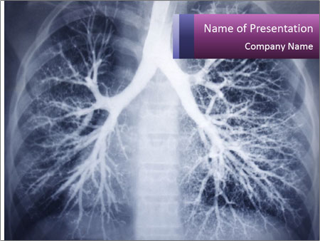 Healthy lungs PowerPoint Template