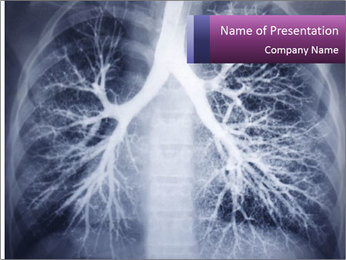 Healthy lungs PowerPoint Template - Slide 1