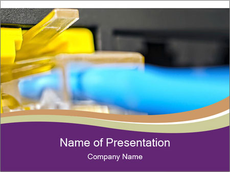 Socket for connection PowerPoint Template