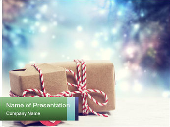 Small Handmade gift boxes PowerPoint Template - Slide 1