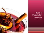 Hot red mulled wine PowerPoint Template