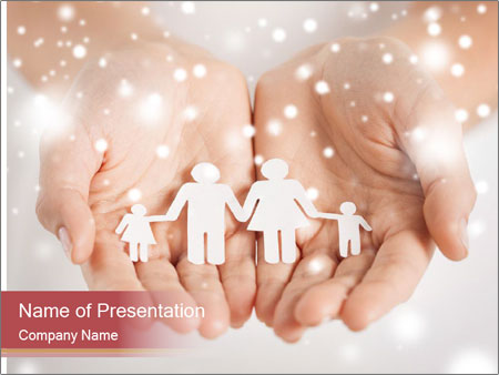 X-mas and happy people concept PowerPoint Templates