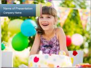 Happy pretty girl PowerPoint Template