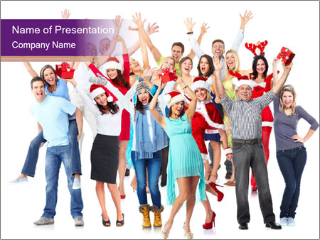 Christmas party. PowerPoint Templates