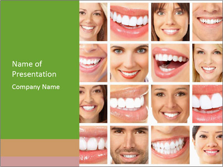 People teeth collage PowerPoint Templates