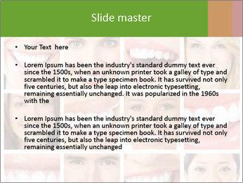 People teeth collage PowerPoint Templates - Slide 2