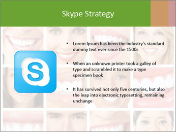 People teeth collage PowerPoint Templates - Slide 8