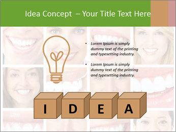 People teeth collage PowerPoint Templates - Slide 80