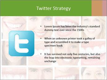 People teeth collage PowerPoint Templates - Slide 9