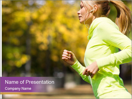 Sport and lifestyle PowerPoint Template