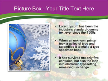Christmas tree with colorful ornaments PowerPoint Template - Slide 13
