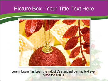 Christmas tree with colorful ornaments PowerPoint Template - Slide 16