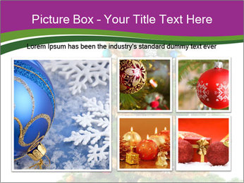Christmas tree with colorful ornaments PowerPoint Template - Slide 19