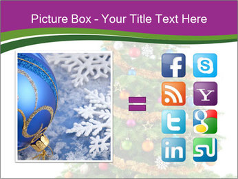 Christmas tree with colorful ornaments PowerPoint Template - Slide 21