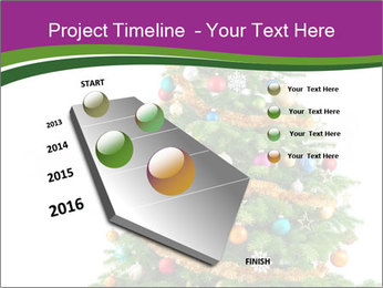 Christmas tree with colorful ornaments PowerPoint Template - Slide 26