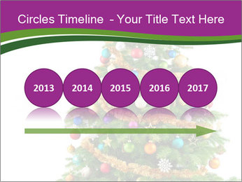 Christmas tree with colorful ornaments PowerPoint Template - Slide 29